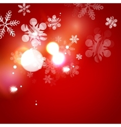 Holiday abstract background winter snowflakes vector image