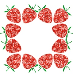 Card with berries with ornamental strawberries vector