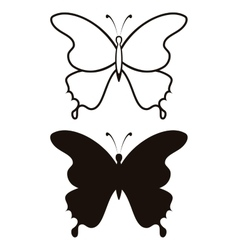 Butterfly silhouette vector