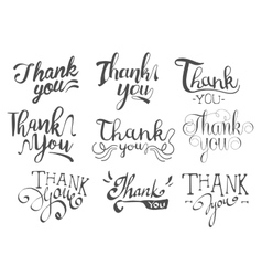 Thank you message set vector