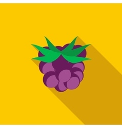 Blackberry icon flat style vector