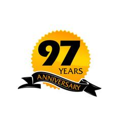 97 years ribbon anniversary vector image vector image
