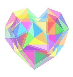 Abstract heart geometrical vector image vector image