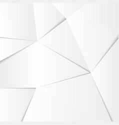 Abstract white silver background lowpoly vector