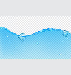Background of transparent water vector