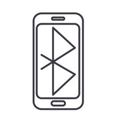 bluethoothsmartphone communication line vector image vector image