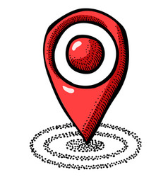 Cartoon image of location icon pointer symbol vector