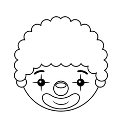 clown head isolated icon design vector image