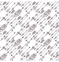 Doodle abstract lines seamless pattern vector image vector image