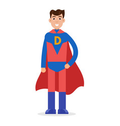 Father superheroes super dad character vector