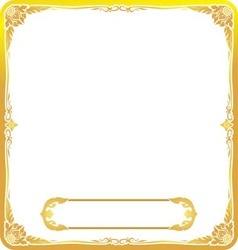frame gold thai style floral vector image