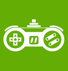 gamepad icon green vector image