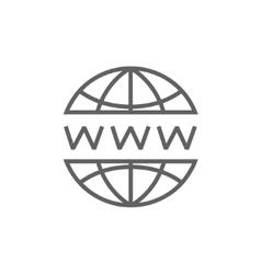 Globe internet line icon vector