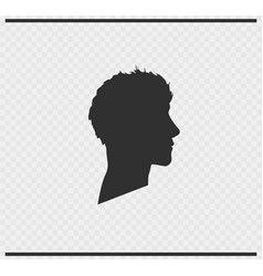 Head icon black color on transparent vector