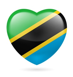 Heart icon of tanzania vector
