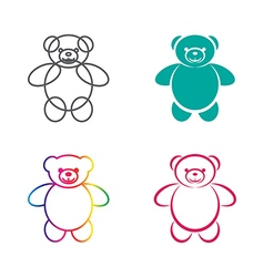 images of teddy bear vector image