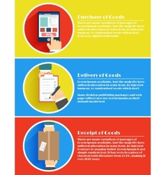 Internet shopping process of purchasing vector image