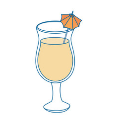 isolated cocktail cup vector image