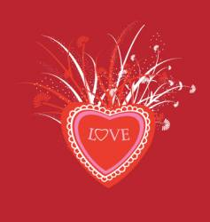love illustration vector image vector image