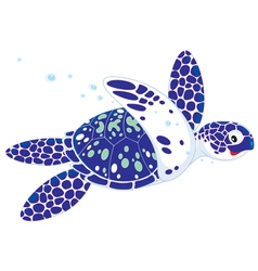 marine turtle vector image vector image