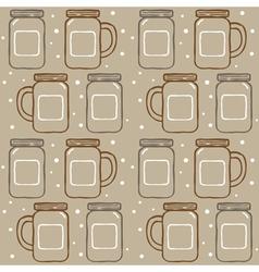mason jar pattern vector image