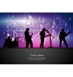 Music rock party abstract background vector