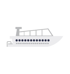nautical boat icon vector image