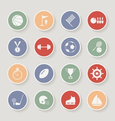 Round Sports Icons vector image vector image