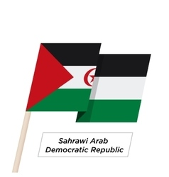 Sahrawi arab democratic repablic ribbon waving vector