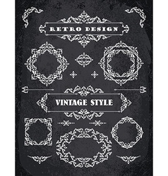 Set of Retro Vintage Badges Frames Labels and vector image vector image