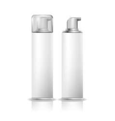 Shaving foam cosmetic bottle sprayer white spray vector