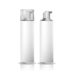 shaving foam cosmetic bottle sprayer white spray vector image