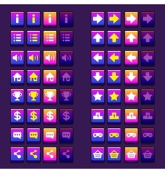 Space game icons buttons icons interface ui vector