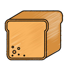Toast bread isolated icon vector