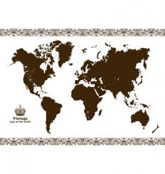 Vintage map of the world vector