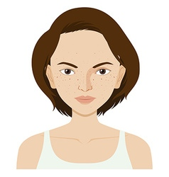 Woman with skin problem vector