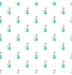Hookah pattern cartoon style vector image