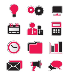 Business icons stickers vector