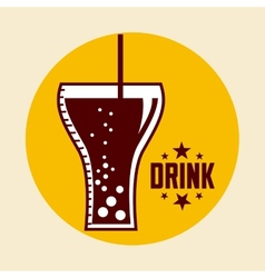 Drink glass vector