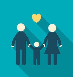 Simple Icon of a Happy Family Father Mother Child vector image