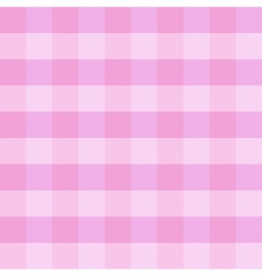 Pink checkered cloth vector
