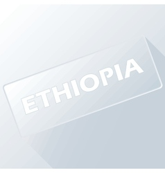Ethiopia unique button vector