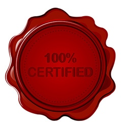 100 certified wax seal vector