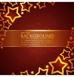 Abstract background with stars vector
