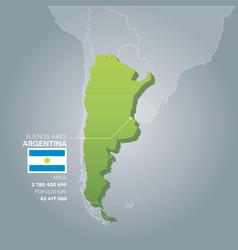Argentina information map vector