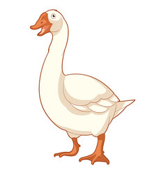 cartoon smiling goose vector image vector image