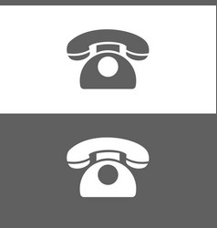 Classic phone icon on a dark and white background vector