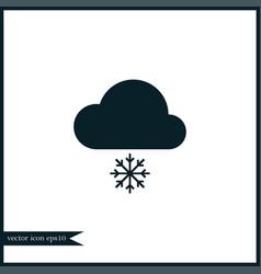 cloud computing icon simple vector image vector image