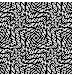 Design seamless monochrome warped pattern vector