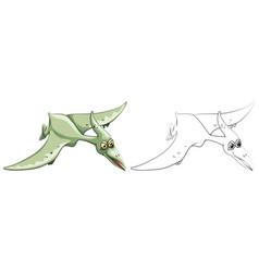 Doodle animal for bird dinosaur vector